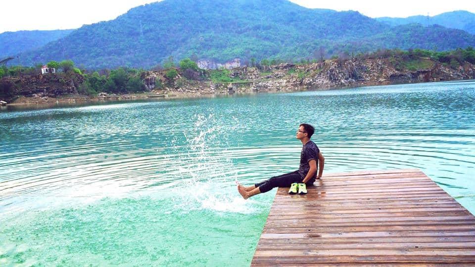 thiên nhiên hồ xanh