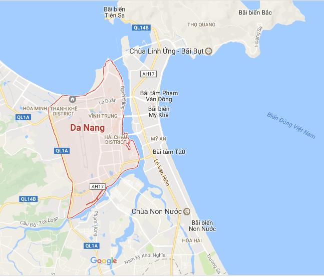 Bản đồ đi chùa Linh Ứng