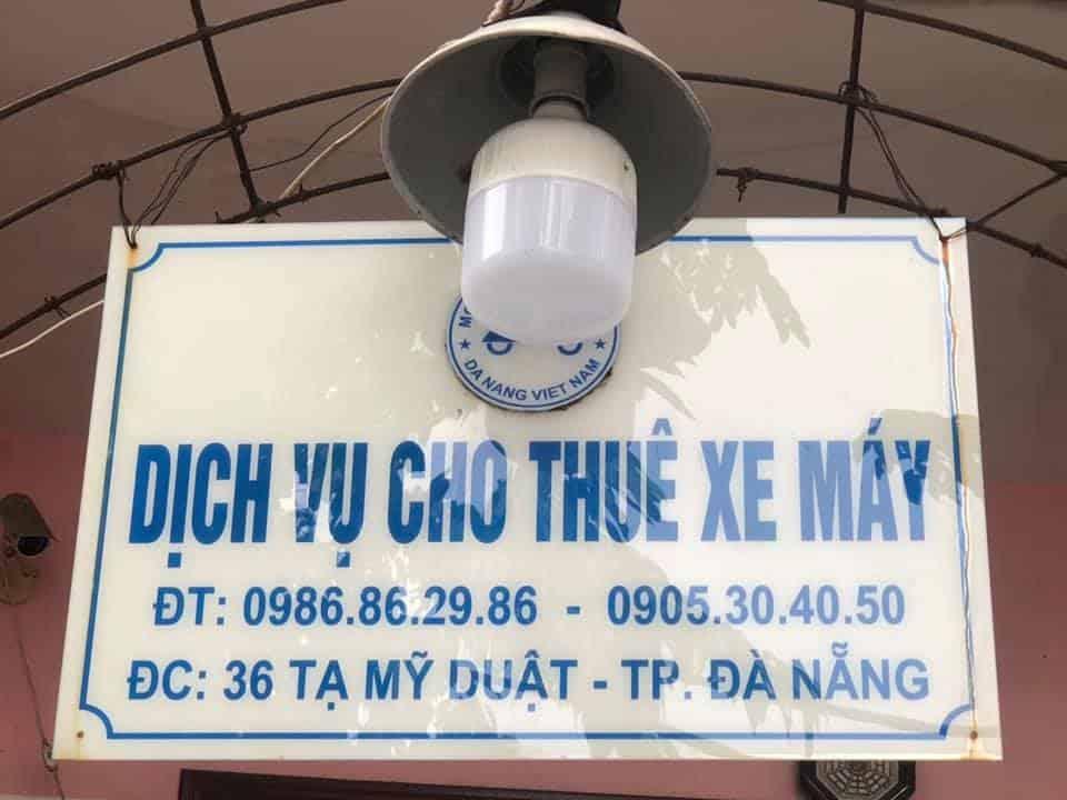 Giới thiệu dịch vụ thuê xe máy Đà Nẵng Bình Minh